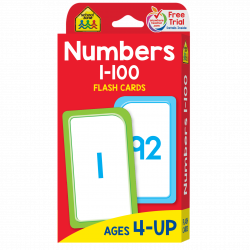 School Zone - Numbers 1-100 Flash Cards
