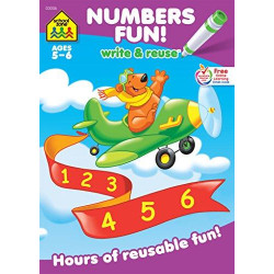"School Zone - ""Numbers Fun! Write and Reuse Workbook """