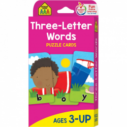 School Zone - Three-Letter Words Flash Cards