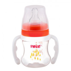 Farlin - PP Wide Neck Feeder 150ML With Handle Orange