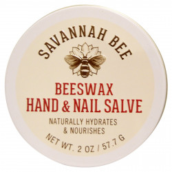 Savannah Bee Company Inc, Organic, Beeswax Hand and Nail Salve, 2 oz (57.7 g)