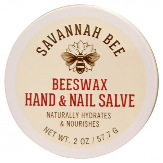 Savannah Bee Company Inc, Organic, Beeswax Hand and Nail Salve, 2 oz (57.7 g)