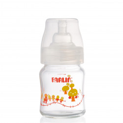 Farlin - Wide Neck Glass Feeding Bottle 120ml