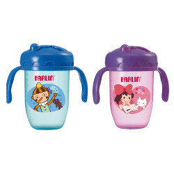 Farlin - Gulu Gulu 2 Straw Drinking Cup 240ML