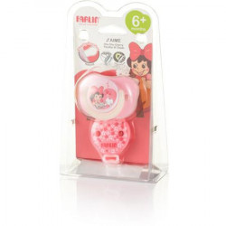 Farlin - Chu Chu Pacifier 2 pieces 6+ Pink