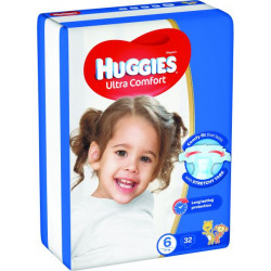 Huggies Jumbo Size (6) 15-30GK 32 Diapers