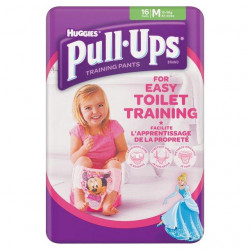 Huggies Pull-Ups Girls Medium 16 per pack (made in Britain)