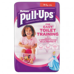 Huggies Pull-Ups Girls Large 12 per pack (made in the Britain)