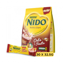 Nido - Golden Start with Oats and Fruits, Strawberry and Banana Milk Drink -30 Sticks (30 x 32.5g)