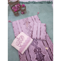 Alwan Sara Praying Set with Large Quran - Pink