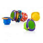 Nuby 5-Piece Splish Splash Bath Time Stacking Cups