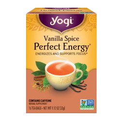 Yogi Tea - Vanilla Spice Perfect Energy - Energizes and Supports Focus 16 Bags