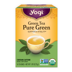 Yogi Tea - Green Tea Pure Green - Supports Vitality