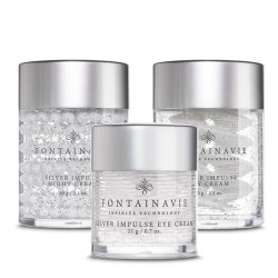 Federico Mahora Silver Impulse Facial Care Package Includes Day Cream, Eye Cream, Night Cream