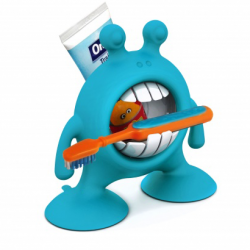 Prince Lionheart - Eye SMILE Toothbrush & Toothpaste Holder (Blue)