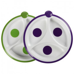 Dr. Brown's Divided Plate - Dots, 2-Pack