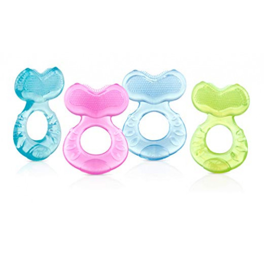 Nuby Teethe - eez Soft Silicone Teether, Includes Hygienic Case (Colors May Vary)