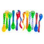 Nuby Spoons and Forks , Colors May Vary, 4 Count