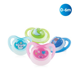 Nuby Orthodontic Glow in the Dark Soother - 0-6m