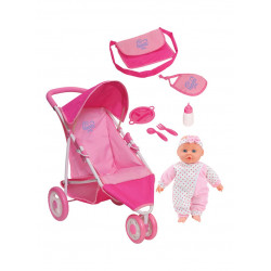 Baby Habibi - Pipe Jogger With Doll And Accessories Set