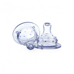 Nuby Non-Drip Wide Neck Nipple - 2 Pack