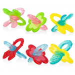Nuby Chewbies Silicone Teether, Colors May Vary