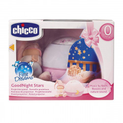 Chicco Goodnight Stars Soft Musical Nightlight - Pink