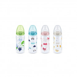 NUK Bottle First Choice Plus With Silicone Teat 0-6m 300ml, Assorted Colors
