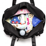 Colorland Abdie Duffel Shoulder Mummy Diaper Bag (Black)