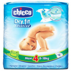 Chicco Dry Fit Plus Size 4 Maxi 8-18 Kg 19 PCS