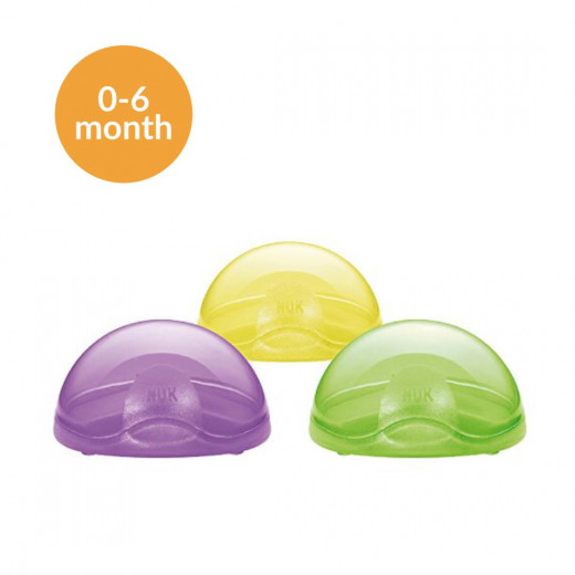 NUK Soother Travel Pod with Pacifier, Stage 1, 0-6 months, Assorted Colors