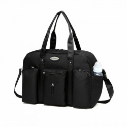 Colorland Abdie Duffel Shoulder Mummy Diaper Bag (Black)
