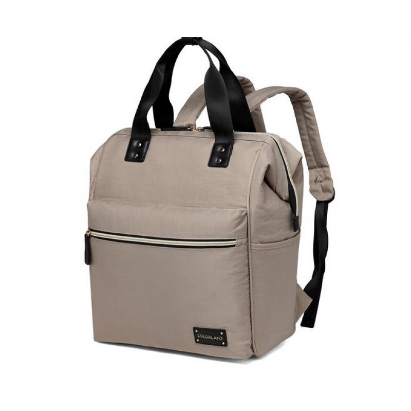 128400e5 Colorland Zara Unisex Baby Diaper School Backpack Water Resistant, Khaki