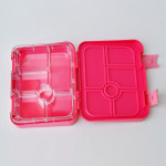 GenioWorld Bento Lunch Box Six Compartments, Pink