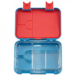 GenioWorld Bento Lunch Box Six Compartments, Blue