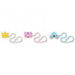 NUK Chain Soother Holder, Assorted Patterns