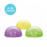 NUK Soother Travel Pod with Pacifier, Stage 2, 6-18 months, Assorted Colors