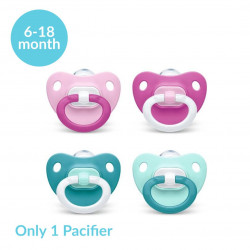 NUK Classic Fashion Pacifier Silicone, (6-18 months) X1 Pacifier