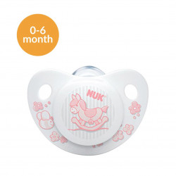 NUK Silicon Soother Sleep Time Stage 1 (Rose)