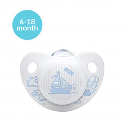 NUK Blue Soother Stage 2 (6-18 months), Blue