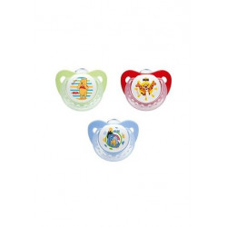 NUK Winnie the Pooh Size 2 Silicone Soother, (6-18 months), Assorted Colors