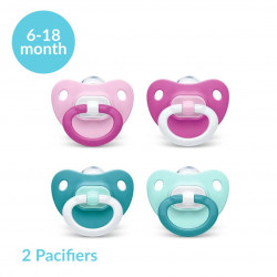 NUK Pacifier Fashion Stage 2 (6-18 month), X2 Pacifiers