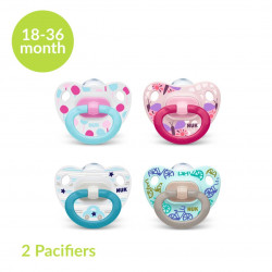 NUK Happy Days Silicone Soother (18-36 Months), X2 Pacifiers
