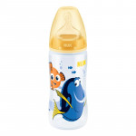 NUK Finding Dory First Choice Bottle, 300ml (6-18 months), Silicone Teat, Assorted Colors