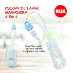 NUK Bottle and Nipple Brush 2 in 1