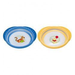 NUK Disney Easy Learning Plate with Lid, Orange or Blue
