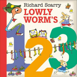 Harper Collins: Lowly Worm's 123, Board book