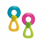 Chicco Fresh Relax Ring With Handle Teethers, 2 Different Colors