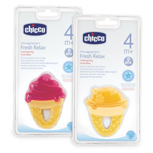 Chicco Fresh Relax Ice Cream Teethers - Orange or Pink