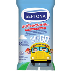 Septona Antibacterial Wet Wipes Kids On the Go (15 refreshing wipes)